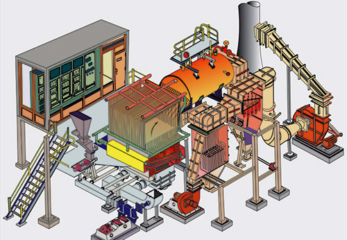 Atmospheric Fluidized Bed Combustion (AFBC) Boiler manufacturing company in Surat, India